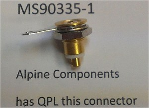 MS90335-1 ESCS is Franchised for Alpine Components who is QPL'd for MS90335-1